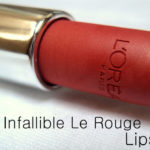 L'Oreal Infallible Lipstick in Always Apricot Review, Photos, Swatches