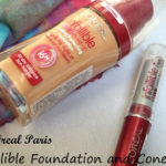L'Oreal Paris Infallible Foundation and Concealer Review, Swatches