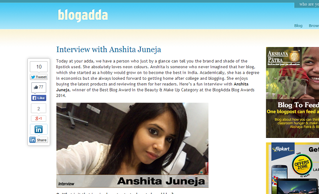 Interview-with-Anshita-best-beauty-makeup-blogger-in-India