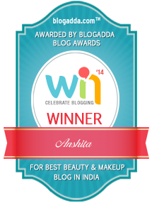 anshita-best-beauty-makeup-blogger-in-india-award