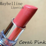 Maybelline Color Sensational Moisture Extreme Lipstick Coral Pink Review, Swatches
