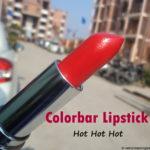 Colorbar Velvet Matte Lipstick Hot Hot Hot – Review, swatches, Photos