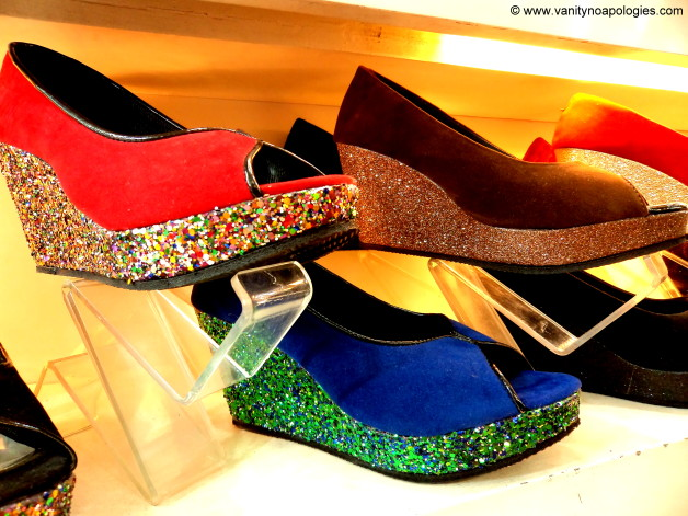 cocktail glitter wedges