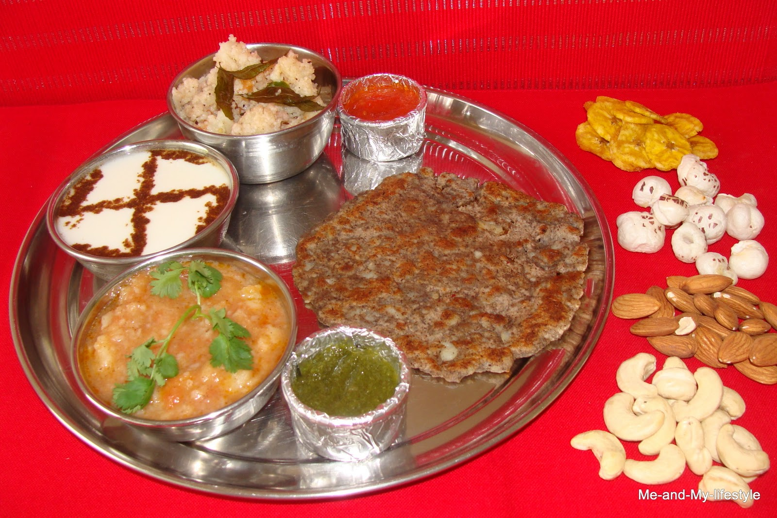 Navratri Thali on best yoga for weight loss