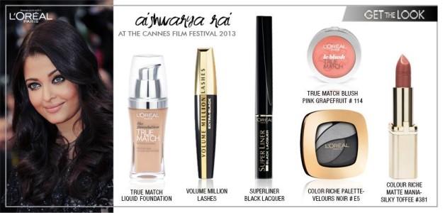 aishwarya cannes makeup