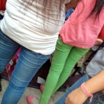 bright green jeans