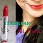 Colorbar Velvet Matte Lipstick All Fired Up: Review and Swatches