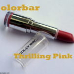 Colorbar Velvet Matte Thrilling Pink Lipstick: Review and Swatches
