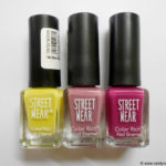 3 Street Wear Color Rich Nail Enamel Review and Swatches: Olive Drab, Purple Magic, Mauve Passion