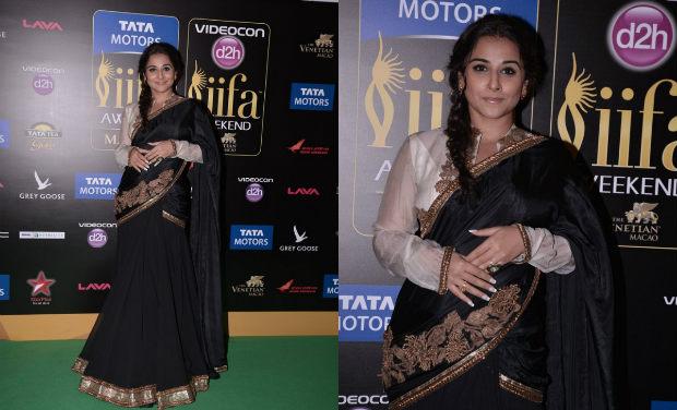 Vidya Balan iifa Awards 2013 saree