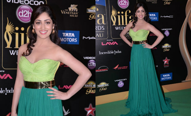 Yamini Gautam iifa Awards 2013 gown
