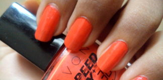 Avon Speed Dry+ Nail Polish Orange You Quick NOTD