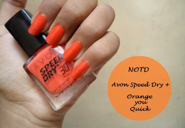 Avon speed dry nail paint NOTD