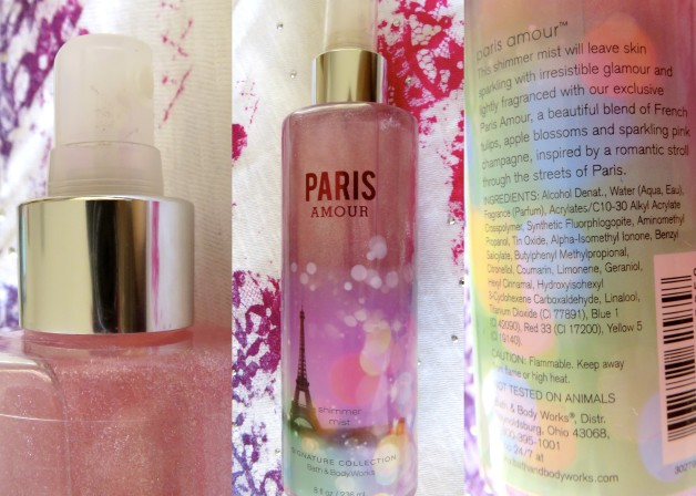 Bath and Body Works Paris Amour Shimmer Mist Signature Collection