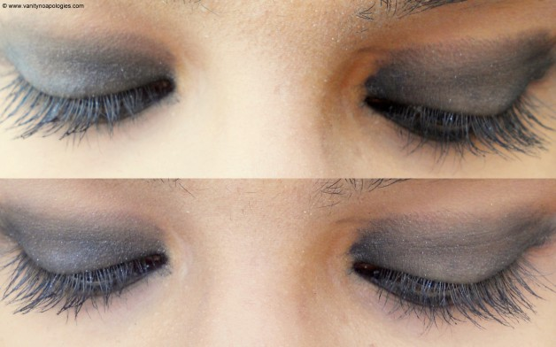 Colorbar Eyeshadow Black Tie eye Swatches