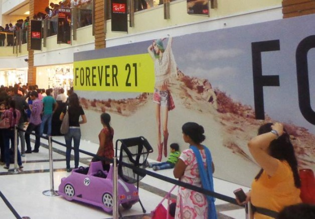 Forever 21 dlf saket store in India