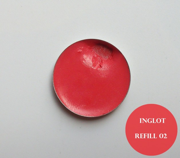 Inglot Freedom System Round Lipstick Refill 02 Swatch, Review
