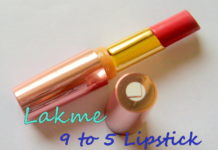 Lakme 9 to 5 Lip Color Pink Colar Review