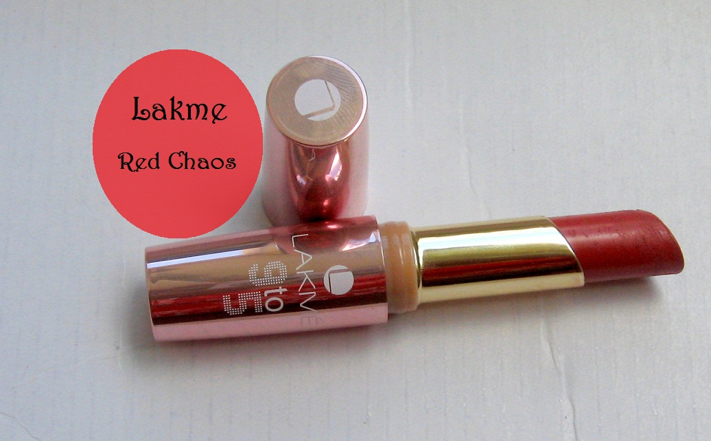 Lakme 9 to 5 Lipstick Red Chaos Review and Swatches