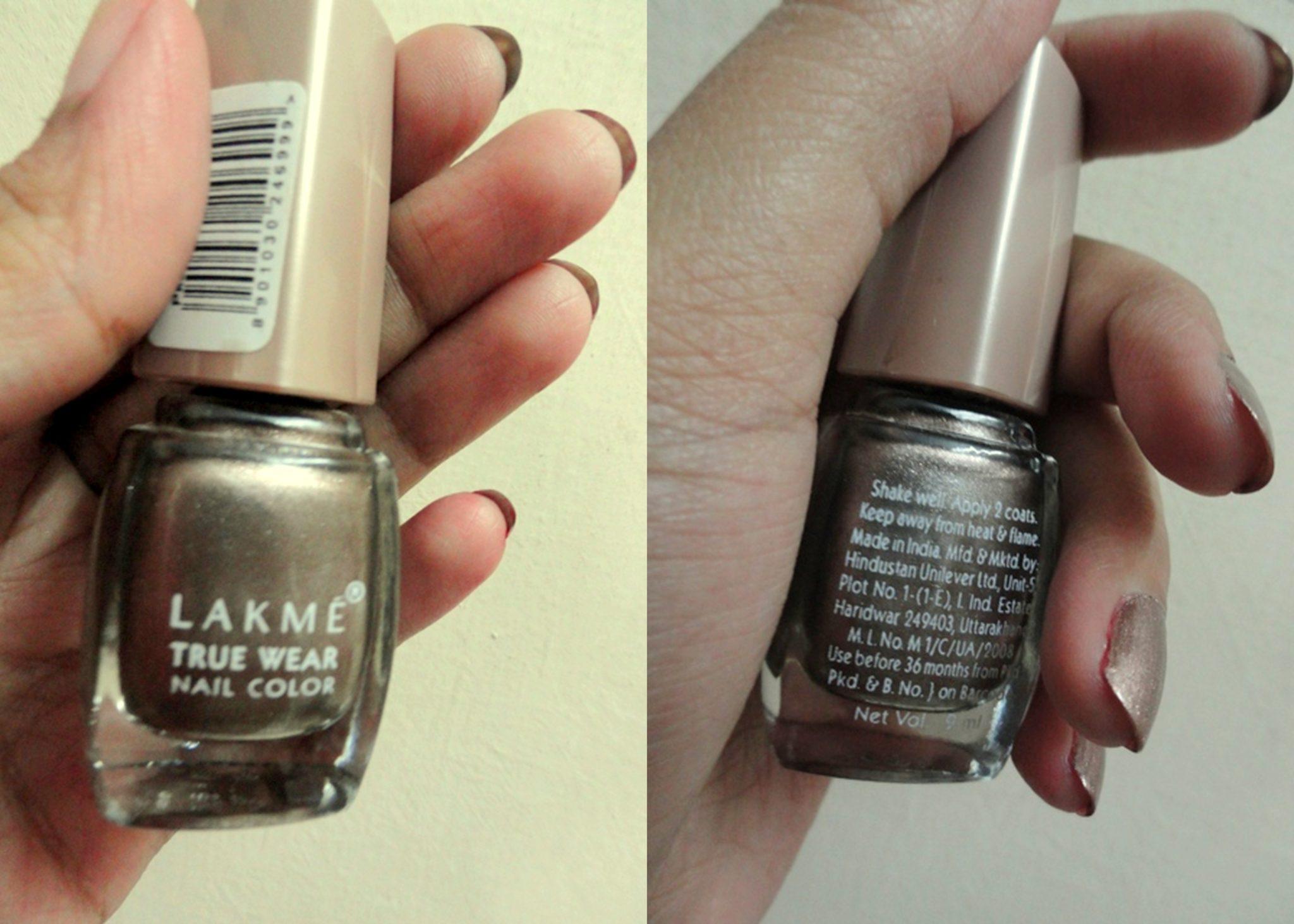 Lakme True Wear Nail Color - Manish Malhotra, Metallics, Deep Blush ...