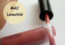 Mac Lovechild Lipglass Swatch, Review