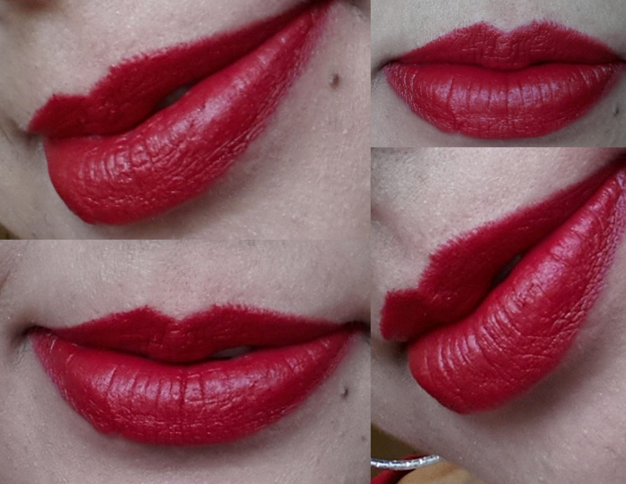 Mac Russian Red Lipstick Swatches On Lips