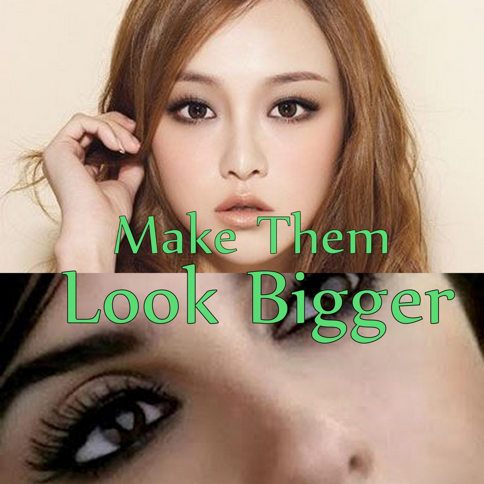 Makeup that makes eyes look bigger