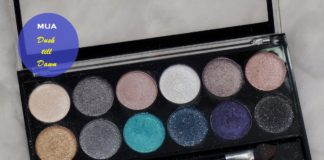 MUA Professional Dusk Til Dawn Palette Review Swatches blog