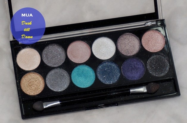 MUA Professional Dusk Til Dawn Palette Review Swatches blog
