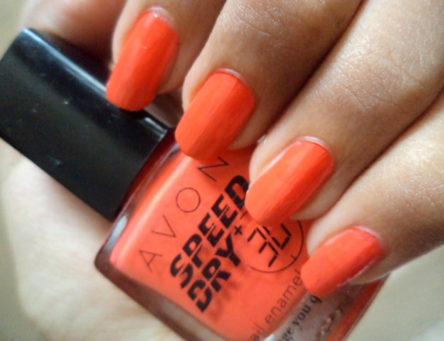 Avon Speed Dry+ Nail Enamel Orange You Quick
