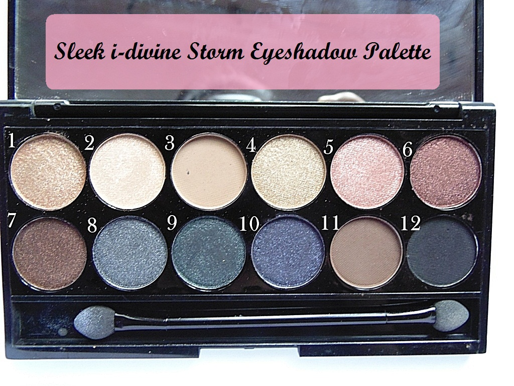 Sleek i-Divine Storm Eyeshadow Palette Swatches and Review