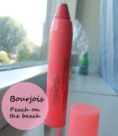 Bourjois Color Boost Lip Crayon- Peach on the Beach- Review, Swatches