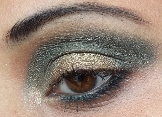 Bourjois Paris Intense Extrait eyeshadows 05 and 08 eye makeup look