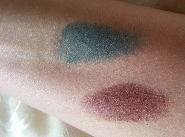 Bourjois Paris Intense Extrait eyeshadows 05 and 08 swatch