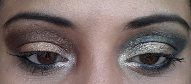 Bourjois Paris Intense Extrait eyeshadows 05 and 08 swatch on eyes