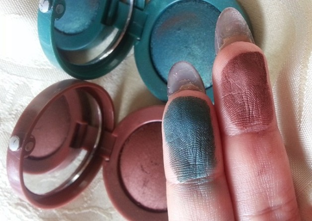 Bourjois Paris Intense Extrait eyeshadows 05 and 08 swatches