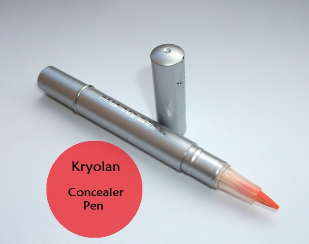 Kryolan Brush On Concealer- Shade 6 (Orange Color Corrector) Swatches & Review