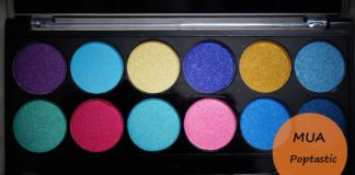 MUA Poptastic Eyeshadow Palette Review Swatches