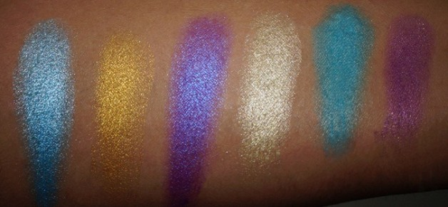 MUA Poptastic Eyeshadow Palette swatches