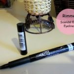 Rimmel London ScandalEyes Precision Micro Eyeliner Swatch, Review, EOTD