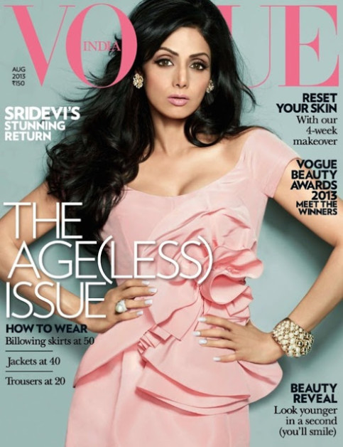 Sridevi Vogue august cover