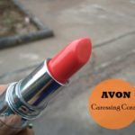 Avon Totally Kissable Lipstick Caressing Coral Swatches, Review and FOTD