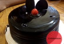 bunny rabbit chocolate truffle cake