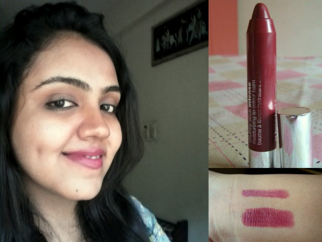 Clinique Chubby Stick Intense Broadest Berry Review Swatch FOTD