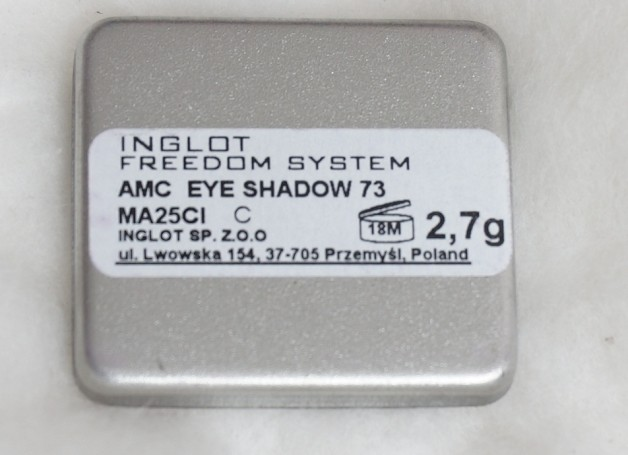 Inglot Freedom System Eyeshadow AMC #73 Review