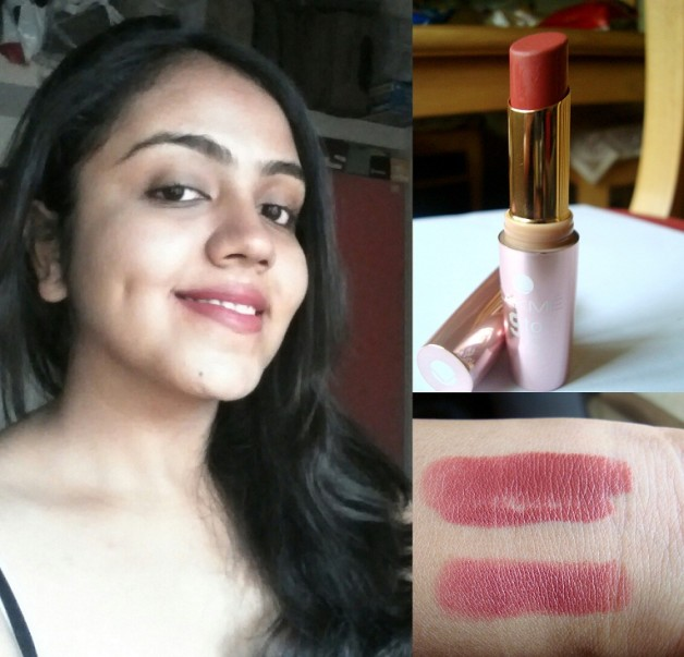lakme 9-to-5 lipstick scarlet drill review swatches FOTD