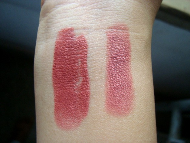 lakme 9-to-5 lipstick scarlet drill swatch