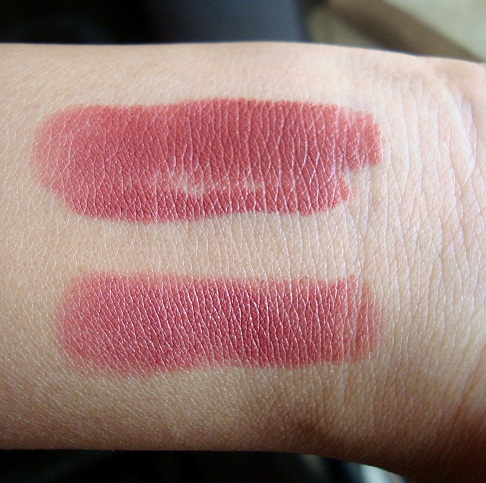 lakme 9-to-5 lipstick scarlet drill swatches