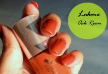 lakme 9 to 5 long wear nail color oak room swatch
