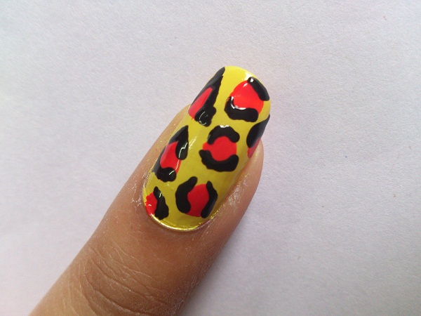 leopard nail art design Indian beauty blog